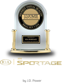 2016 SPORTAGE - 'Highest Ranked Small SUV in Initial Quality in the U.S.' by J.D. Power