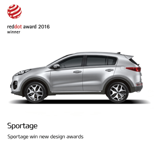 Sportage win new design awards