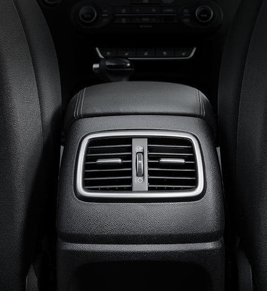 Rear air ventilation and power supply