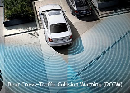 DRIVE WiSE feature - Rear Cross-Traffic Collision Warning (RCCW)