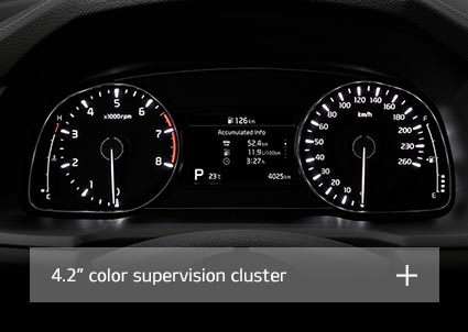 "Supervision cluster with 4.2"" color screen"